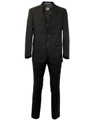 BEN SHERMAN RETRO MOD BLACK SUIT