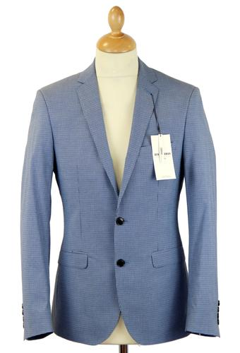 BEN SHERMAN SUIT RETRO MICRO CHECK MOD SUIT