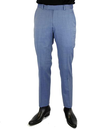 BEN SHERMAN RETRO MOD TONIC SUIT TROUSER BLUE