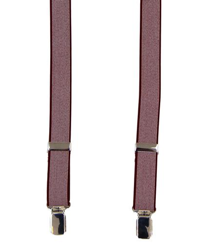 BEN SHERMAN RETRO MOD SKINNY BRACES RED