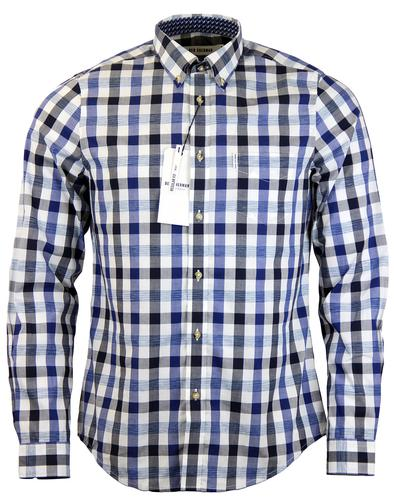 BEN SHERMAN RETRO MOD SPACE DYED CHECK SHIRT