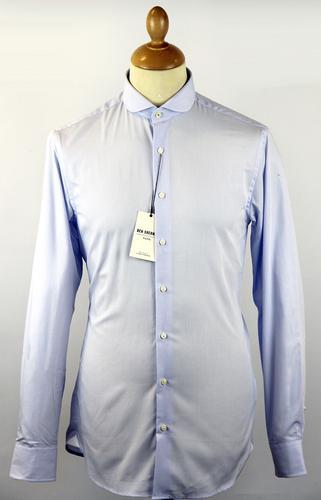 BEN SHERMAN Tailored Gingham Penny Collar Shirt B