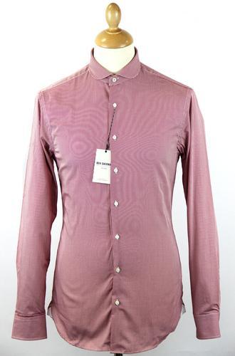 BEN SHERMAN Tailored Gingham Penny Collar Shirt W