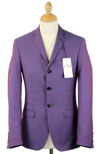BEN SHERMAN RETRO MOD TONIC SUIT JACKET PURPLE