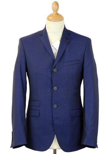 BEN SHERMAN TAILORING SUIT JACKET BLUE TONIC MOD