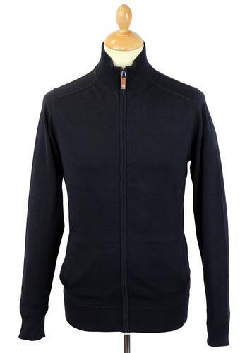 BEN SHERMAN RETRO MOD 70S ZIP THROUGH CARDIGAN