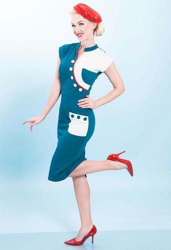 BETTIE PAGE RETRO 1950s VINTAGE PENCIL DRESS