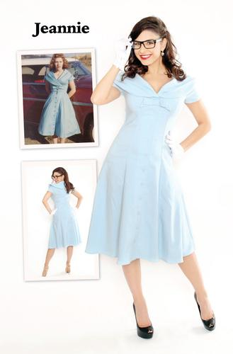 BETTIE PAGE RETRO 1950s VINTAGE DRESS JEANNIE