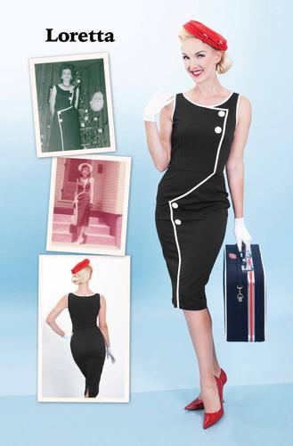 BETTIE PAGE RETRO 1950s VINTAGE WIGGLE DRESS