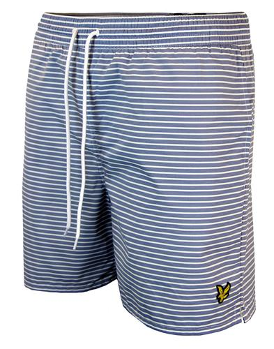 LYLE & SCOTT RETRO INDIE STRIPE SWIM SHORTS BLUE