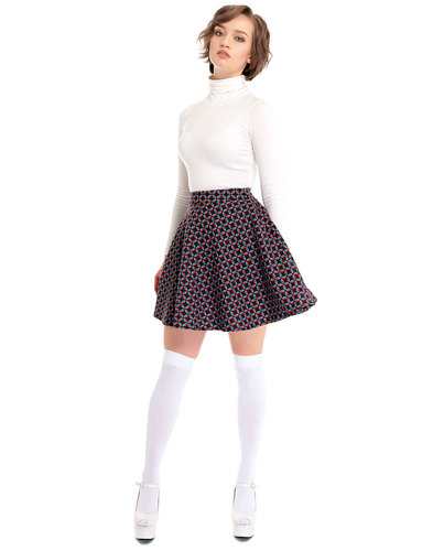 Bright & Beautiful Retro 60s A-Line Skirt Flared