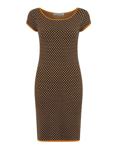 BRIGHT & BEAUTIFUL RETRO 60s MOD KNITTED DRESS