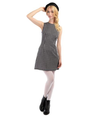 BRIGHT AND BEAUTIFUL MANDY A LINE CHECK DRESS
