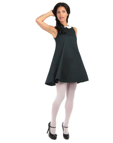 BRIGHT & BEAUTIFUL RETRO 60s MOD NIA DRESS CHECK