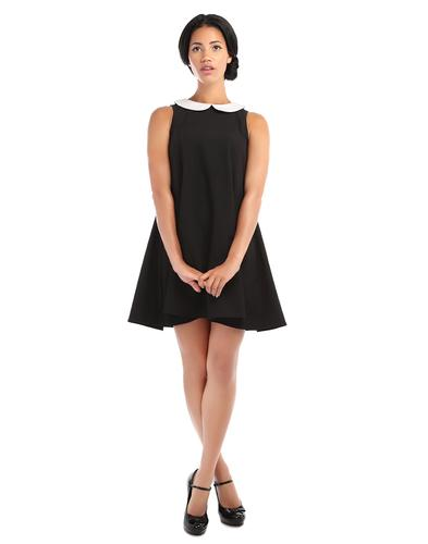 BRIGHT & BEAUTIFUL RETRO 60s MOD DOLL DRESS BLACK