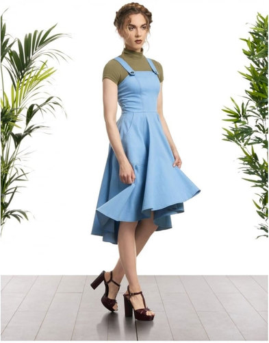 Odette BRIGHT & BEAUTIFUL Retro 70s Denim Pinafore