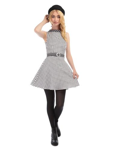 BRIGHT & BEAUTIFUL RETRO 60s MOD CHECK DRESS