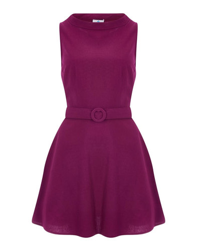 Ruth BRIGHT & BEAUTIFUL Retro 60s Mod Dress Plum