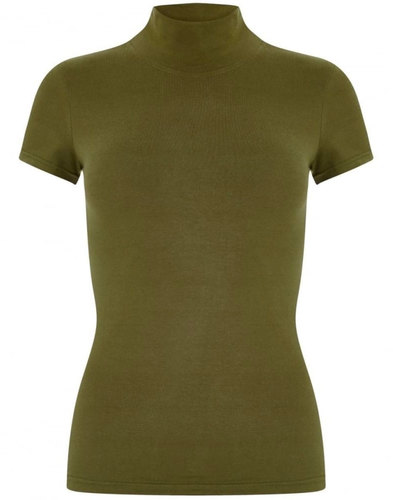 TJ BRIGHT & BEAUTIFUL 60s Turtle Neck Top OLIVE
