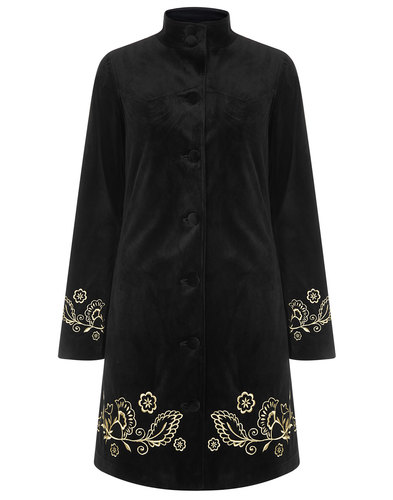 Jasmine BRIGHT & BEAUTIFUL Retro 1960s Velvet Coat
