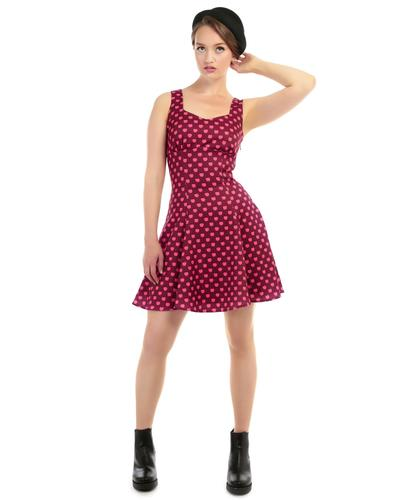 BRIGHT & BEAUTIFUL RETRO 60s MOD APPLE DRESS