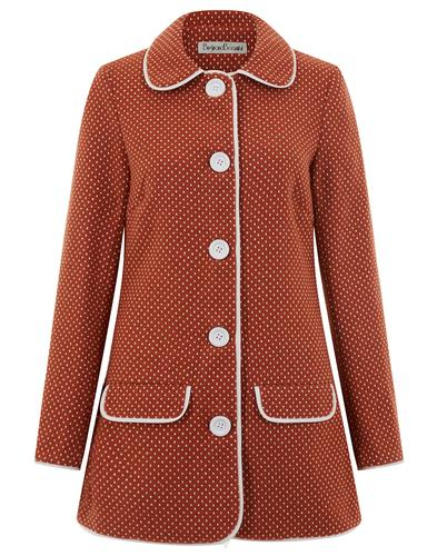 BRIGHT & BEAUTIFUL RETRO 60s MOD POLKADOT TRENCH