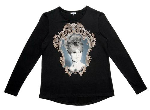Laly BRIGITTE BARDOT Retro 60s Long Sleeve T-Shirt