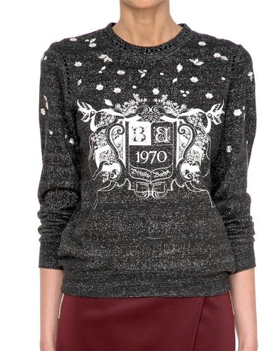 Sula BRIGITTE BARDOT Retro 70s Printed Sweater