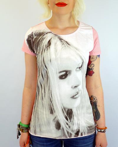 Pou BRIGITTE BARDOT Retro 60s Portrait T-shirt