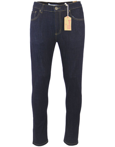 brutus gold retro 1970s mod slim rinse denim jeans