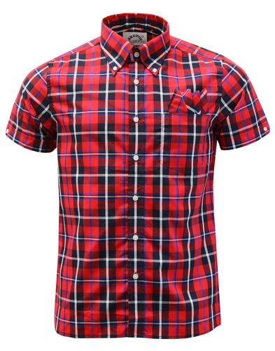 BRUTUS TRIMFIT Retro Mod Window Pane Check Shirt
