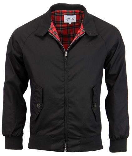 BRUTUS TRIMFIT MOD HARRINGTON JACKET BLACK