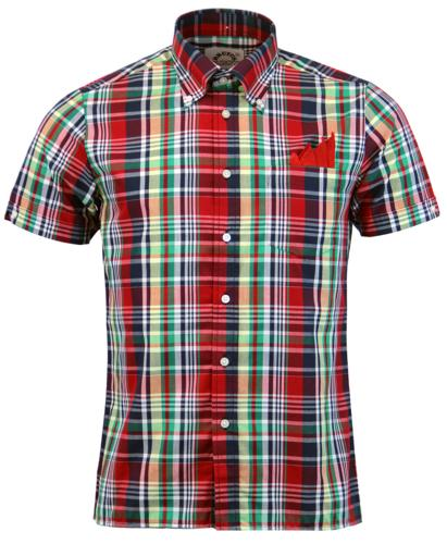 BRUTUS TRIMFIT RETRO MOD MADRAS CHECK SHIRT