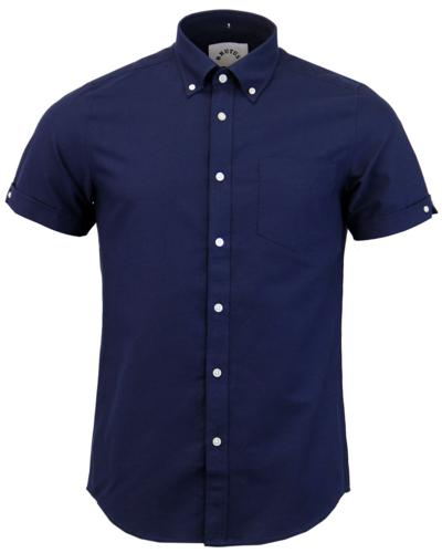 BRUTUS TRIMFIT RETRO MOD OXFORD SHIRT NAVY