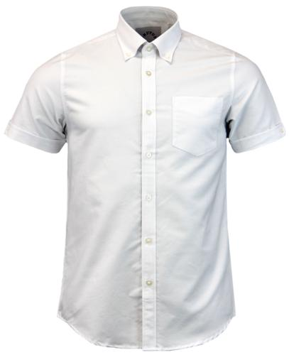 BRUTUS TRIMFIT RETRO MOD OXFORD SHIRT WHITE