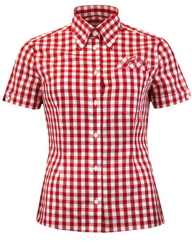 BRUTUS TRIMFIT Women's Mod Gingham Check Shirt RED