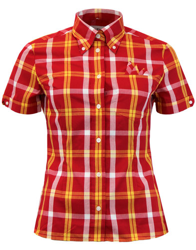BRUTUS TRIMFIT Women's Mod Tartan Check Shirt RED