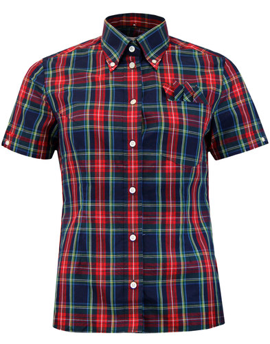 BRUTUS TRIMFIT Women's Heritage Check Shirt NAVY