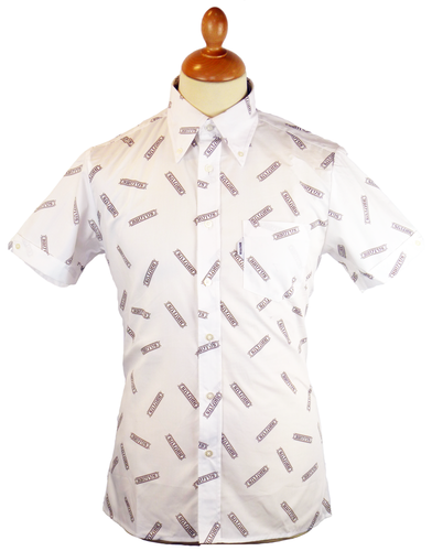 BRUTUS Retro 70s Mod Button Down Logo Shirt (W)