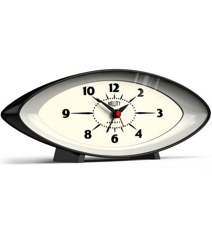 NEWGATE BULLIT RETRO SPACE AGE ALARM CLOCK BLACK
