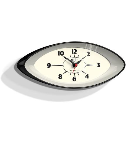 NEWGATE BULLIT RETRO SPACE AGE WALL CLOCK BLACK