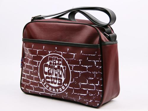 CAVERN CLUB RETRO MOD SHOULDER BAG BURGUNDY