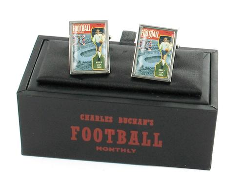 CHARLES BUCHANS FOOTBALL 1966 WORLD CUP CUFFLINKS