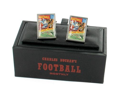 CHARLES BUCHANS FOOTBALL CUP FINAL CUFFLINKS