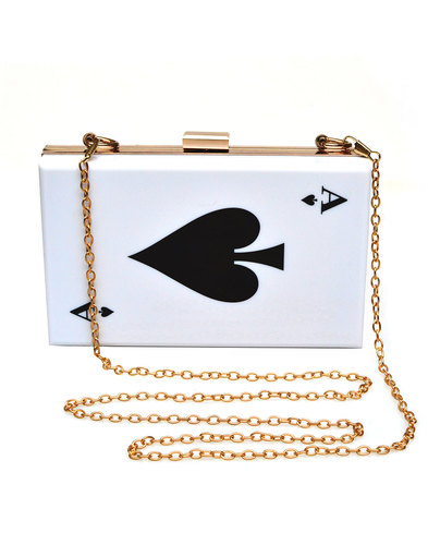 Collectif retro vintage 50s Ace of Spades clutch
