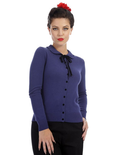 Collectif retro vintage Andi Cardigan Blue