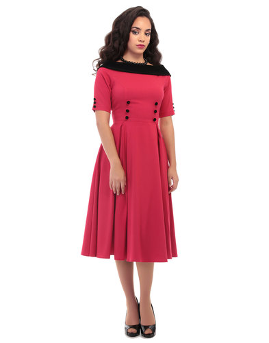 Collectif retro 50s vintage swing dress CARRERA