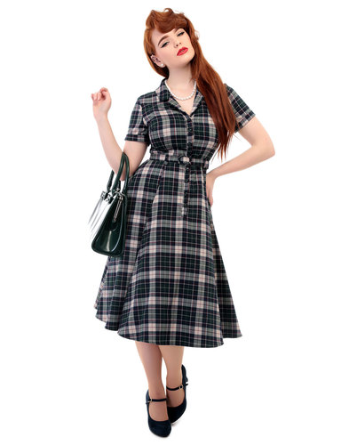 COLLECTIF VINTAGE Caterina Sherwood Check Dress