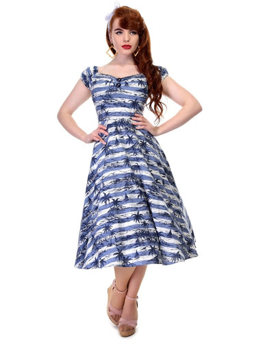 Collectif Retro Vintage 50s Dolores Mahiki Dress