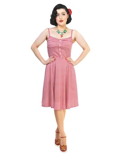 COLLECTIF RETRO VINTAGE 50s SUMMER GINGHAM DRESS